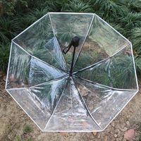 친환경 투명한 파라과스 자동 우산 비 여성 남성용 태양 비가 파라과 콤팩트 접는 방풍 맑은 우산 CS 164 G2
