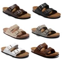 Paia Fashion Slipper Gear Bottoms Mens Sandali a strisce Causal antiscivolo Pantofole Summer Summer Pantofole in vera pelle flip flops Slipper Migliore qualità