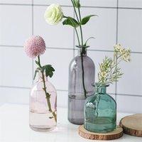 إناء غرفة المعيشة المجففة الزهور الشمال الأزياء نمط الزجاج الشبت شبت الديكور ديكور المنزل زهرة المزهريات للمنازل