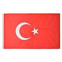 Turquía Bandera de alta calidad de 3x5 Partido Nacional Festival de 90x150cm Banner FT regalo 100D Poliéster Banderas de interior al aire libre impresos y banners