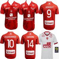 novo 2021 MAILLOT DE PÉ Brest Stade 29 de Futebol CASA FORA 2019 2020 DIALLO Charbonnier LASNE 2020 Faussurier GRANDSIR Brestois CAMISA