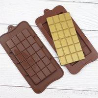 완전 초콜릿 금형 에폭시 수지 실리콘 24 그리드 정사각형 초콜릿 금형 베이킹 와플 케이크 캔디 크래커 금형 새로운 2 1dB L2