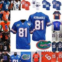 Custom Florida Gators Football Jersey NCAA College Van Jefferson Feleipe Franks LaMmical Perine Swain Carter Diabate Greenard Jeff Driskel
