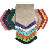 뜨개질 배너 플래그 스커트 tassels 레이스 다채로운 예술 깃발 정원 원예 장식 야외 선물 절묘한 31 * 46cm 5 5zs n2