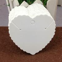 100 pz / lotto a forma di cuore orecchini collana carta handmade cartone di carta kraft per il fascino di moda gioielli visualizzazione carta di imballaggio