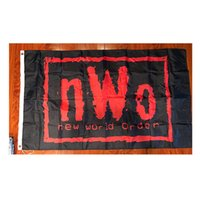 NWO Neue Weltbestellung Rot Schwarz Logo Wrestling 3'x5 'Füße Flagge Digitaldruck 100D Polyester Banner
