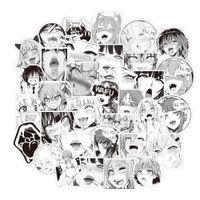 50 adet / set Hentai Manga anime pvc dizüstü Matara bisiklet kaskı araba çıkartmaları için su geçirmez etiket hediyeler