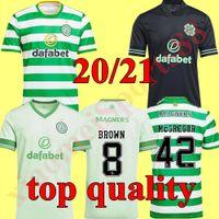 Hommes + Kids Kit 20 21 Jerseys de football celtique 2020 2021 Accueil McGregor Brown Griffiths Edouard Away Forest Christie Roberts Football Uniforme