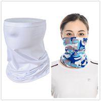 Térmica en blanco Sublimación del turbante de la bufanda de la media cara máscara de polvo de transferencia térmica Impreso blanca Pañuelos informal diadema pañuelo para el cuello F102302