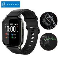 Haylou LS02 Bluetooth 5.0 montre Smart Watch Sport Round métal Cas de fréquence cardiaque Moniteur sommeil IP68 étanche intelligent Band Femmes Hommes Cwmsports FY8141