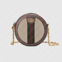 2021 Sacos de Ombro Redondos Mulheres Bolsa Bolsa Saco Luxurys Designers Sacos Ahoulder Bag Bolsas Crossbody Bag Totes bolsas Ophidia B21020503L