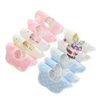 Baberos para bebés paños del Burp del pañuelo de tela saliva infantil INS circular baberos recién nacido bebé de la historieta baberos recién nacido paños del Burp