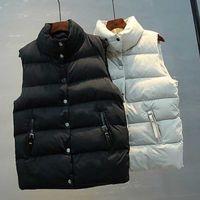 Women Sleeveless Jacket Autumn Winter Casual Warm Thick Cotton Vest Padded Coat Female Short Waistcoat Parka Outwear