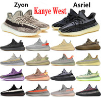 Yecheil Kanye Shoes de course West V2 Noir Cloud Black Terre Blanc Synth Statique Zebra Lundmark Yeshaya Desert Sage Sports Sneakers