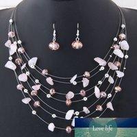 Bohemian Fashion Crystal Shell Set di gioielli Set Collana Orecchini Set Set Party Jewellery Abito Gioielli Decorazione Accessori