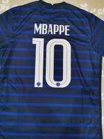 # 10 mbappe nazione team jersey di calcio # 7 Griezmann # 13 Knace 20/21 Top Thai Quality Home Blue Away Camicia da calcio Bianco