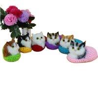 Gatos super simulação soando presentes bonitos aniversário boneca brinquedos sapato apaziguamento pelúcia crianças dele namorada gatinhos de natal enviar hwcea