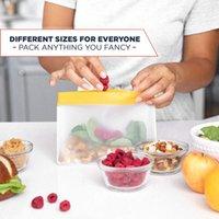 Borsa da cucina Alimenti riutilizzabili Borse con cerniera con cerniera tridimensionale PEVA Memorizzazione addensata Sigillata Seal Keeting Borsa Cucina Organizer da cucina 34 L2