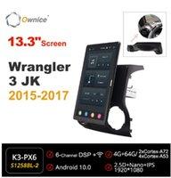 "Auto Audio 1920 * 1080 Eigentor Android 10.0 Radio Forjeep Wrangler 3 JK 2021 Multimedia-Kopfeinheit 13.3 ""IPS drehbar"