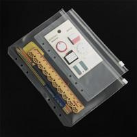 A5 / A6 / A7 PVC Binder Cancella Zipper bagagli Bag 6 buche impermeabile della cancelleria Borse Travel Office Portable Document Sack EEE2683