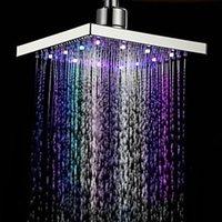 LED 샤워 헤드 욕실 액세서리 헤드 Douche 강우량 세트 Regaderas 샤워 라이트 홈 개선 램프 UPS Y200109