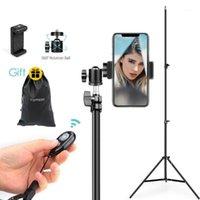 VAMSON Flexible Tripods Apoio Fotografia Bluetooth Câmeras Remoto Refletores Estúdio de Photo para Câmara Móvel VLS03C1