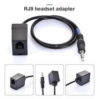 3.5mm RJ9 Câblage téléphonique 4P4C Convertisseur de chapeau de casque femelle Câble de téléphone RJ9 à 3,5 mm femelle à mâle adaptateur