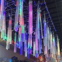 حزب الديكور أضواء النيزك دش مصباح مجموعة LED ضوء بار ديكور الخفيفة في الهواء الطلق أنبوب ماء 8lamps ضوء / مجموعة الشحن البحري IIA757
