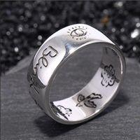 Novas mulheres menina flor pássaro pássaro anel com selo cego para amor carta anel presente para amor casal de alta qualidade jóias