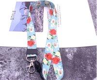 Anahtarlık ile Boyun Halat Lanyard Asma Sevimli Çiçekler Hayvanlar Cep Telefonu sapanlar Tutucu Anahtar Cheetah Rozet Kamera USB Sahipleri