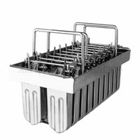 20 células / lote de aço inoxidável Congelado Ice Cream Maker Mold Ice-lolly molde Commercial picolé DIY Varas Titular
