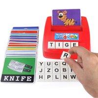 حار بيع التعليم المبكر اللعب الإنجليزية الأبجدية رسائل تهجئة بطاقات الإملائي كيد محو الأمية التعليمية لعبة LJ201118