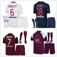2020 Paris Adulto Jersey Jersey Set Mbappe Cavani Maillot de Futebol 2020 2021 Futebol Homens Terno