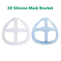 24 Stunden versandt 6 Styles 3D Silikon-Maske Bracket Lippenstift Schutzmaske Ständer Inner-Unterstützung für Enhancing Reibungslos Masken Werkzeug Acc Atem