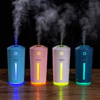 Mini USB humidificador ultrasónico del purificador del aroma esencial difusor de aceites de aromaterapia fabricante de la niebla nebulizador con luces LED para coches Inicio Bedr