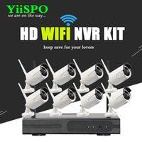 무선 카메라 키트 yiispo 8ch NVR CCTV 시스템 960P IP WiFi 비바람에 견디는 IR 밤 Vison 홈 보안 감시 1.3MP 키트