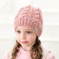 DHL gratuit UPS 8 Couleurs Enfants PoneyTail Chapeaux Bonnet Enfants Tricot Crochet Fashion Hiver Hepps Bonnets