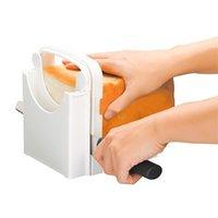 Coupe de cuisine Tool Tool Trancheur de pain Toast Cutter avec guide de coupe Sandwich Maker Maker Machine Pain Cutter Loaf Toast Slicer Y200612