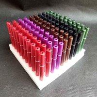 Cigarro colorido em forma de tubos de metal Hitters Bat Mão Tabaco Fumar Charuto Tubulações Tubo Tools Ferramentas 78mm comprimento Snuff Snuff