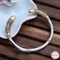 Original 925 Sterling Silber Schmuck Vintage Manschette Armbänder Männer Affe King Goldene Cudgel Hohe polierte Top Qualität Thai Silber1