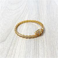 Fabrik Großhandel Gold Armbänder Schlangenkette Fit Charme Armreif Armband Schmuck Geschenk Für Frauen mit Kiste mit Stempel Kostenloser versand Großhandel