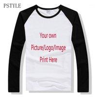 Pstyle raglan tshirt de manga larga camisetas para hombres camiseta de encargo de la camiseta, diseño propio del logotipo de la impresión de la impresión de la camiseta del hombre de la camiseta Casual de la camiseta de los tops de la ropa del otoño1
