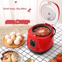 1.2L Mini Cozinha de Arroz Elétrica Steamer Multifunction Cozinha Cozinha Potenciômetro Não-Stick Lancheira Lancheira Sopa Sopa Papaqueira 220 V1
