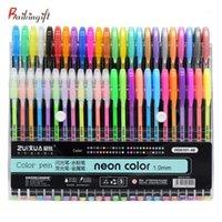 Genkky Promotion Pen 48 Couleurs Gel Stylos Ensemble Stylo Glitter Gel pour adultes Coloriages Livres Journaux Dessin Doodling Art Marqueurs1