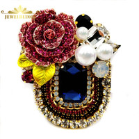 Italy Stylish Pink Crystal Rose Deco Dark Blue Rectangular B...