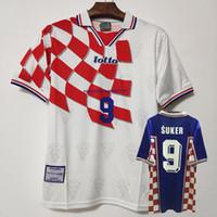 1998 레트로 홈 멀리 perisic davor suker 레트로 축구 유니폼 마리오 Zvonimir Boban Robert Prosinecki Moban Football Shirts