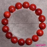 "Free Shipping 8,10,12,14mm Natural Red Sponge Coral Gems Elasticity Bracelets 7.5"" w36001"