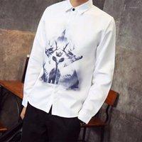 Мужские повседневные рубашки CamiSas Floral Masculina Nova Venda Quente Dos Homens de Manga Combida Lapela Tops Casuais Camisa Solta Lotus Rand 10.4