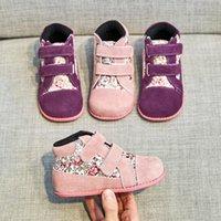 Tipsietoes Новая зима Детская обувь Кожа и ткань Мартин сапоги Детские снеге Девочки Мальчики моды кроссовки Chaussure Fille 201009