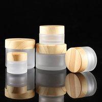 5 g 10g 15g 30g 50g cosmétiques Jars Conteneurs Emballage Bouteille Veine du bois couverture botterCream bouteille vide Maquillage Crème Visage Rechargeables